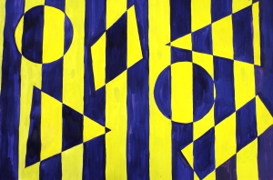 Op Art Shape Painting