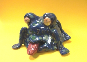 Funky Clay Frog
